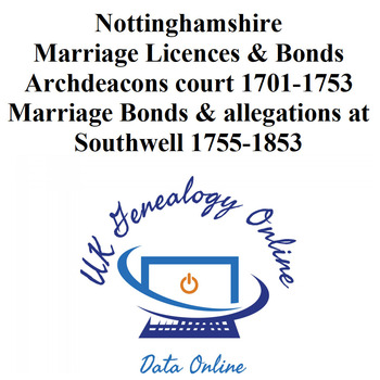 Nottinghamshire Marriage Licences & Bonds