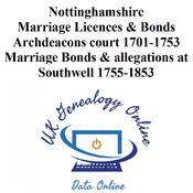 Nottinghamshire Marriage Licences & Bonds