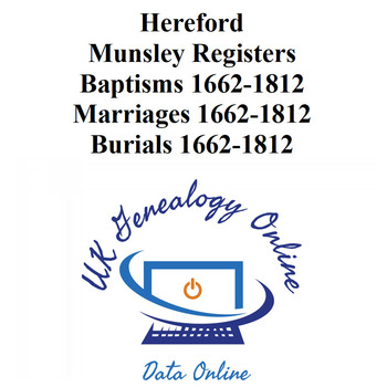 Munsley Hereford Parish Registers 1662-1812