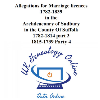 Allegations for Marriage licences 1782-1839