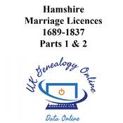 Hamshire Marriage Licences 1689-1837 Parts 1 & 2