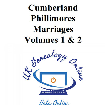 Cumberland Phillimores Marriages Volumes 1 & 2