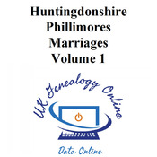 Huntingdonshire Phillimores Marriages Volume 1