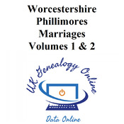 Worcestershire Phillimores Marriages Volumes 1 & 2