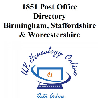 1851 Post Office Directory Birmingham, Staffordshire & Worcestershire