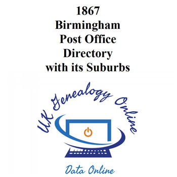1867 Birmingham Post Office Directory with its Suburbs