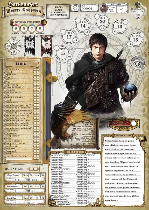 Pathfinder(1 0) English Character Sheet - El Tesoro del Dragon