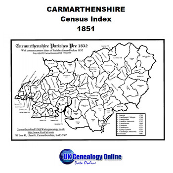Carmarthenshire 1851 Census Index