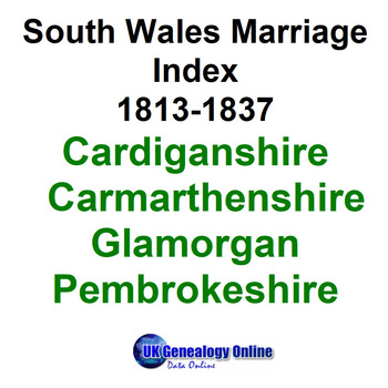 South Wales Marriage Index 1813-1837