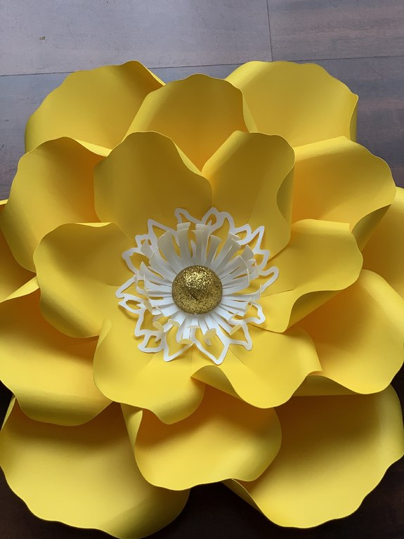 pdf petal 14 diy paper flowers printable template comes with flat centers round  u0026 hexagonal base