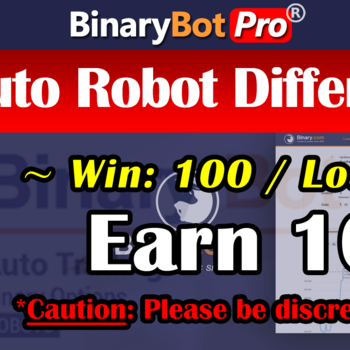[Binary Bot Pro] Auto Robot Differs (3-May-2020)