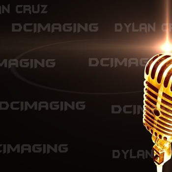 Gold Mic for Voice Over or Radio station