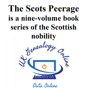 The Scots Peerage Volumes 1 to 9 Complete set
