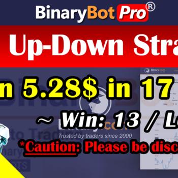 [Binary Bot Pro] Goes Up-Down Strategy (10-Jul-2020)