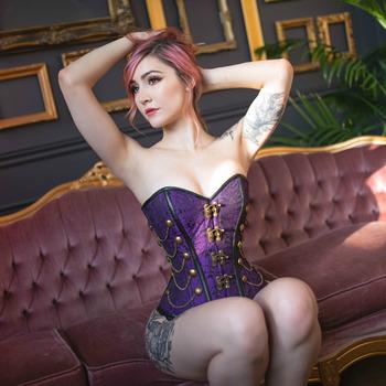 Purple Corset (35 photos)