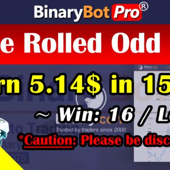 [Binary Bot Pro] Triple Rolled Odd Even (11-Jun-2020)