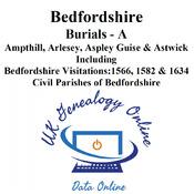 Bedfordshire Burials Index : A