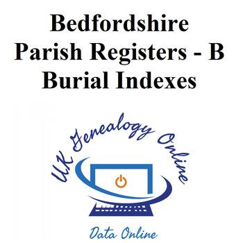 Bedfordshire Burials Index - B