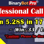 [Binary Bot Pro] Professional Call Put Bot (8-Jul-2020)