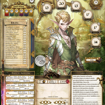 Delux D&D5 Character Sheet(Eng)