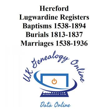 Herefordshire - Lugwardine Parish Indexes