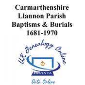 Llannon Parish Baptisms & Burials 1681-1970 Images