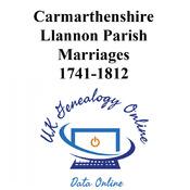 Llannon Parish Marriages 1741-1812 Images