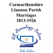 llannon Parish Marriages 1813-1926 Images