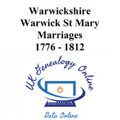 Warwickshirce Warwick St Mary Images 1777-1812