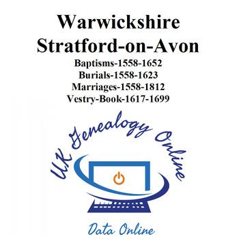 Warwickshire, Stratford-on-Avon Parish Registers