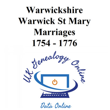 Warwickshire Warwick St Mary Marriage Images 1754-1776