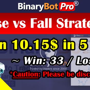 [Binary Bot Pro] Rise vs Fall Strategy (30-Jul-2020)