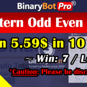 [Binary Bot Pro] Pattern Odd Even Bot (2-Sep-2020)