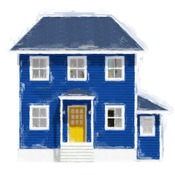 The Blue House With The Yellow Door Home Design CC01