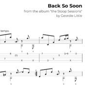 Back So Soon (Tab/Notation + mp3)
