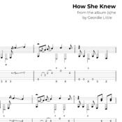 How She Knew (Tab/Notation + mp3)