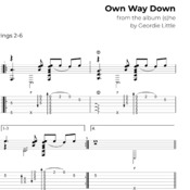 Own Way Down (Tab/Notation + mp3)
