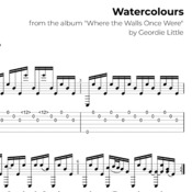 Watercolours (Tab/Notation + mp3)
