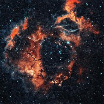 Rosette nebula square background