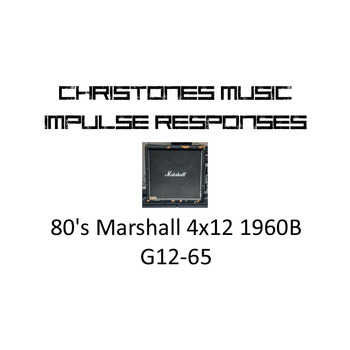 80's Marshall 4x12 1960B with G12-65 Impulse Responses for Two Notes Gear (tur-format)