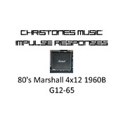 80's Marshall 4x12 1960B G12-65 Impulse Responses for Two Notes Gear (tur-format)