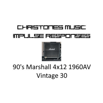 90's Marshall 4x12 1960AV with Vintage 30 Impulse Responses for Two Notes Gear (tur-format)