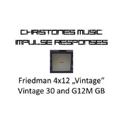 "Friedman 4x12 ""Vintage"" with Vintage 30 and G12M GB Impulse Responses for Two Notes Gear (tur-format)"