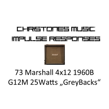 "1973 Marshall 4x12 1960B with G12M 25 ""GreyBacks"" Impulse Responses for Two Notes Gear (tur and wave files)"