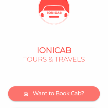 ionicab - Cab booking App - ionic 3